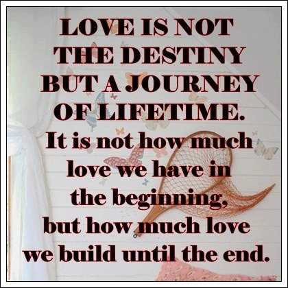 Love Is Not The Destiny Inspirational Life Quotes